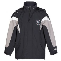 Ford Mustang Jacket Jumper Hoodie Embroidered Fleece lined detachable hood