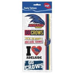 Adelaide Crows AFL Temporary TATTOO Sheet