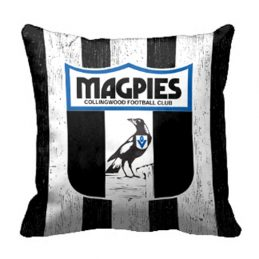 Collingwood Magpies AFL Cushion Canvas fabric indoor outdoor Pillow