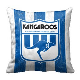 North Melbourne Kangaroos AFL Cushion Canvas fabric indoor outdoor Pillow