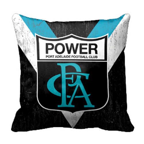 Adelaide Port Power AFL Cushion Canvas fabric indoor outdoor Pillow