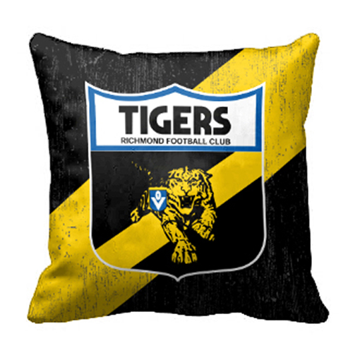 Richmond Tigers AFL Cushion Canvas fabric indoor outdoor Pillow