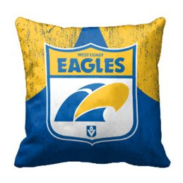 West Coast Eagles AFL Cushion Canvas fabric indoor outdoor Pillow