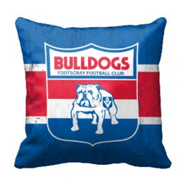Western Bulldogs AFL Cushion Canvas fabric indoor outdoor Pillow