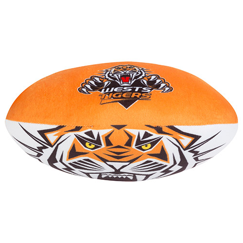 Wests Tigers NRL Plush Football Ball Soft Sublimated 2017 Team Jersey Print