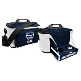 Geelong Cats AFL Lunch Cooler Bag With Drink Tray Table