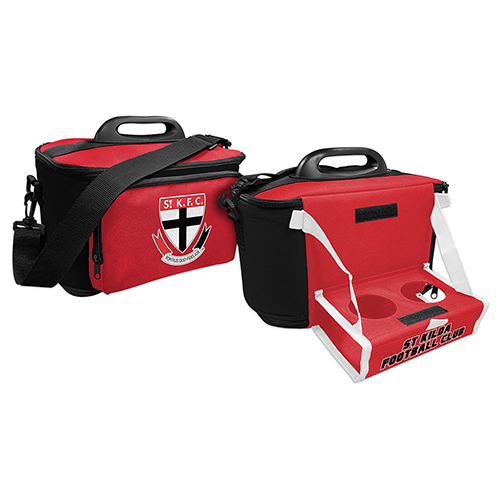 St Kilda Saints AFL Lunch Cooler Bag With Drink Tray Table