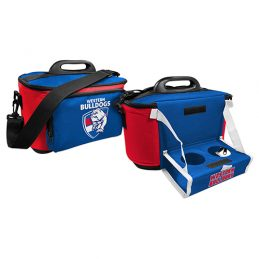 Western Bulldogs AFL Lunch Cooler Bag With Drink Tray Table