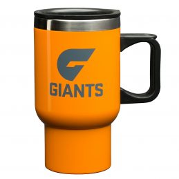 Greater Western Giants AFL TRAVEL Coffee Mug Cup Stainless Steel with Handle