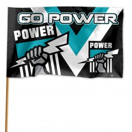Adelaide Port Power AFL GAME DAY Pole Flag Banner includes pole