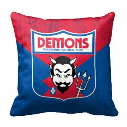 Melbourne Demons AFL Cushion Canvas fabric indoor outdoor Pillow
