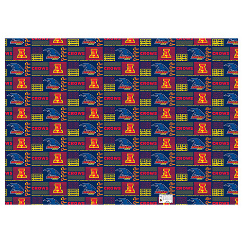 Adelaide Crows AFL Gift Wrapping Paper School Book Covering