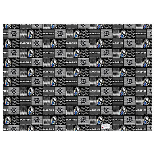 Collingwood Magpies AFL Gift Wrapping Paper School Book Covering