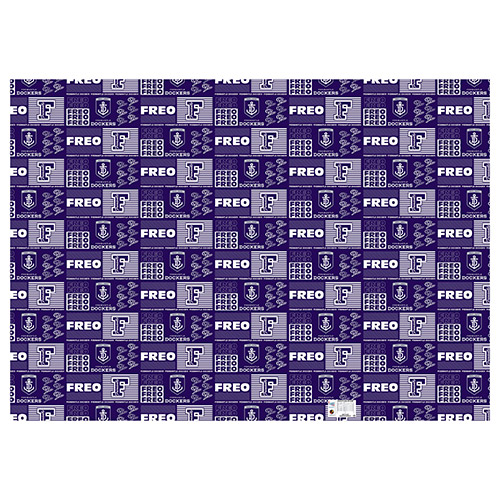 Fremantle Dockers Freo AFL Gift Wrapping Paper School Book Covering