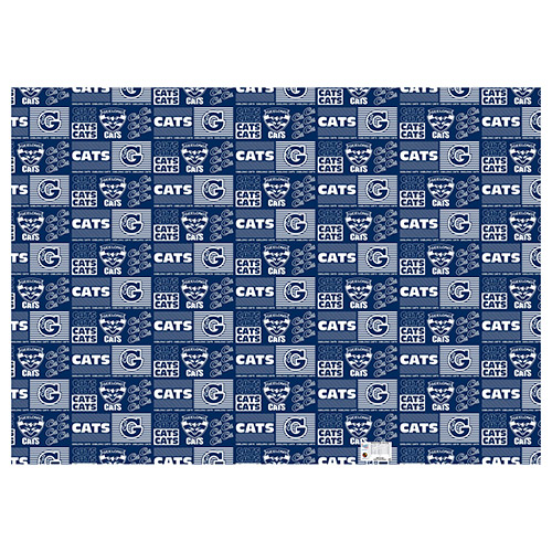 Geelong Cats AFL Gift Wrapping Paper School Book Covering