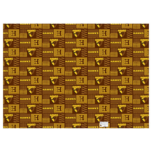 Hawthorn Hawks AFL Gift Wrapping Paper School Book Covering
