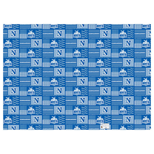 North Melbourne Kangaroos AFL Gift Wrapping Paper School Book Covering