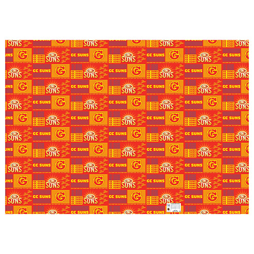 Gold Coast Suns AFL Gift Wrapping Paper School Book Covering