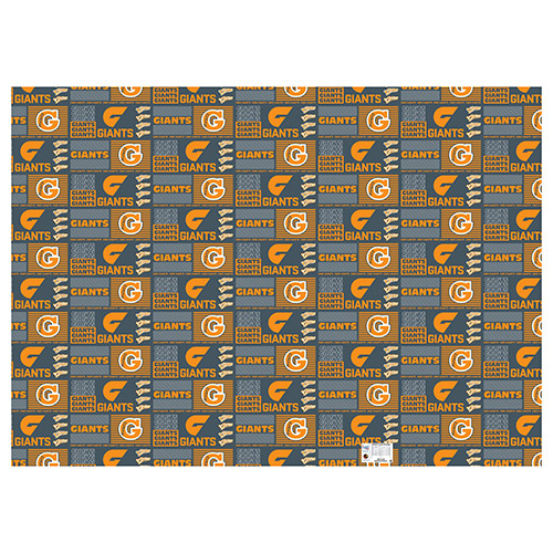 Greater Western Giants AFL Gift Wrapping Paper School Book Covering
