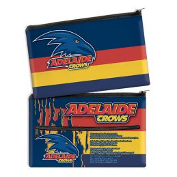 AFL Adelaide Crows QUALITY LARGE Pencil Case for School Work Stationary