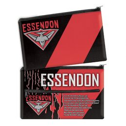 AFL Essendon Bombers QUALITY LARGE Pencil Case for School Work Stationary