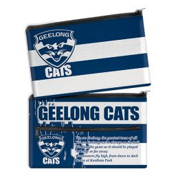 AFL Geelong Cats QUALITY LARGE Pencil Case for School Work Stationary