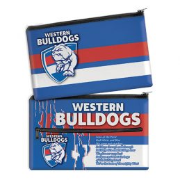 AFL Western Bulldogs QUALITY LARGE Pencil Case for School Work Stationary