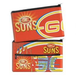 Gold Coast Suns AFL QUALITY LARGE Pencil Case for School Work Stationary