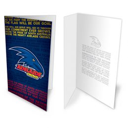 Adelaide Crows AFL Team Song Musical Greeting Card Birthday Gift