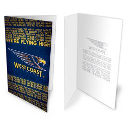 West Coast Eagles AFL Team Song Musical Greeting Card Birthday Gift