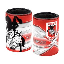 NRL St George Dragons Beer Can Bottle Cooler Stubby Holder Cosy x 1
