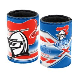 NRL New Castle Knights Beer Can Bottle Cooler Stubby Holder Cosy x 1