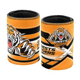 Wests Tigers NRL Beer Can Bottle Cooler Stubby Holder Cosy