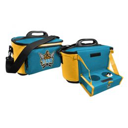 GOLD COAST TITANS NRL DRINK COOLER ESKY CARRY BAG WITH DRINK TRAY/TABLE