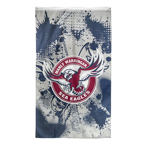 NRL MANLY SEA EAGLES Cape Wall Flag Banner