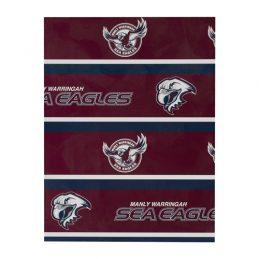 Manly Warringah Sea Eagles NRL GIFT WRAP Wrapping Paper