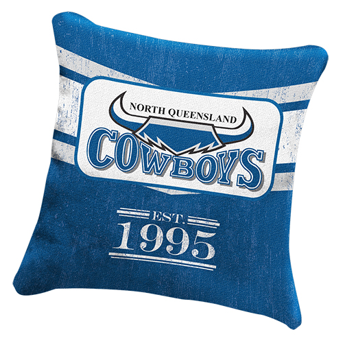 North QLD Queensland Cowboys NRL HERITAGE Cushion fabric Pillow