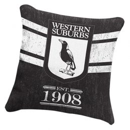 Western Suburbs Magpies NRL HERITAGE Cushion fabric Pillow