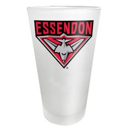 Essendon Bombers AFL FROSTED Conical Glass 450ml