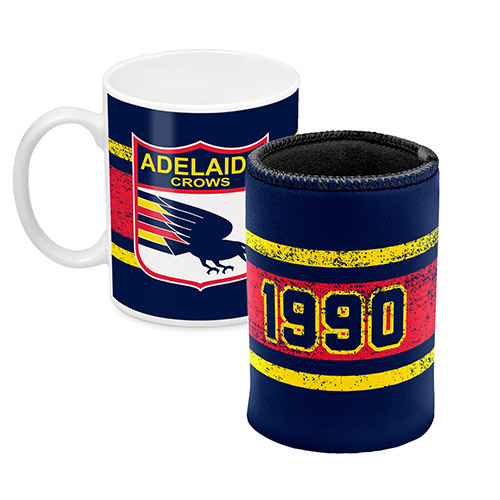 Adelaide Crows AFL Coffee Mug & Can Cooler GIFT PACK