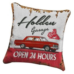 HOLDEN Heritage Canvas Fabric Cushion Pillow Fully Stitched 43 x 43 cm