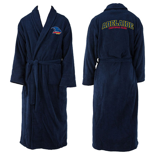 Adelaide Crows AFL Adult Polyester Dressing Gown Bath Robe