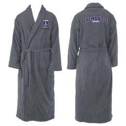 Fremantle Dockers Freo AFL Adult Polyester Dressing Gown Bath Robe
