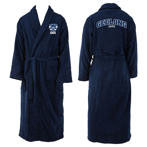 Geelong Cats AFL Adult Polyester Dressing Gown Bath Robe
