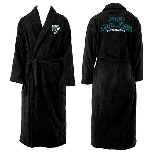 Adelaide Port Power AFL Adult Polyester Dressing Gown Bath Robe