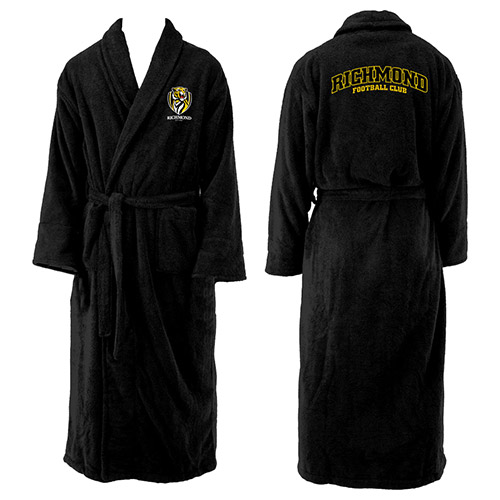 Richmond Tigers AFL Adult Polyester Dressing Gown Bath Robe