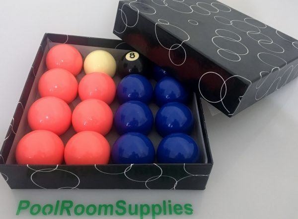 Battle of the Sexes Blue and Peach Pool Snooker Billiard Balls