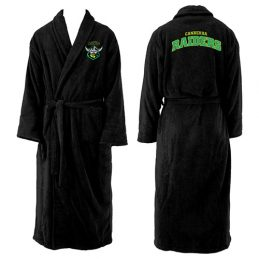 Canberra Raiders NRL Adult Polyester Dressing Gown Bath Robe