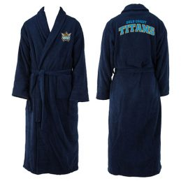 Gold Coast Titans NRL Adult Polyester Dressing Gown Bath Robe