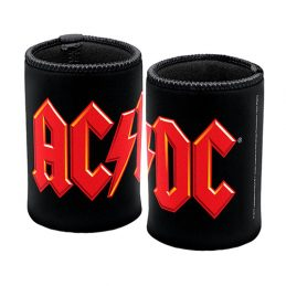 ACDC Highway to Hell Beer Can Bottle Cooler Stubby Holder Cosy (Red and Black)